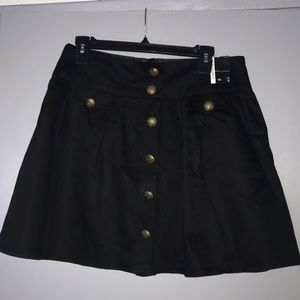 NWT black button skirt from England, UK 14, US 10